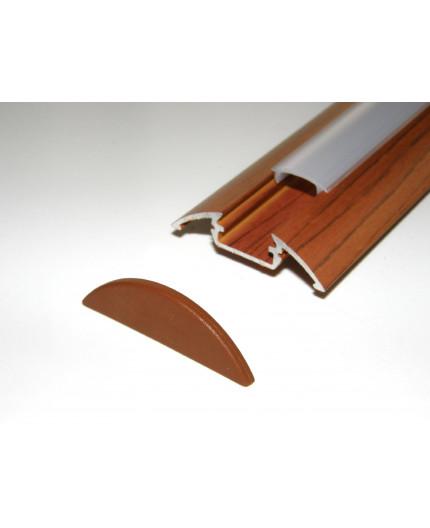 P4 wood palisander LED aluminium profile / extrusion with diffuser