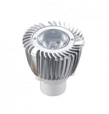 1W MR11 GU4 12V LED Spot Lamp, Silver, Warm White, non-dimmable