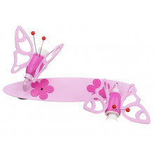 Handmade 2-way Wall / Ceiling SpotLight, Pink, Round / Butterfly, Children Lighting