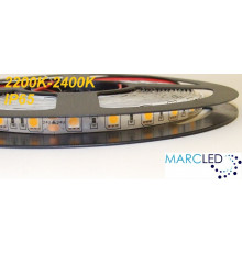 24VDC LED strip, IP54, very warm white 2200K-2400K, SMD5060 / SMD5050, 5m (72W, 300LEDs)