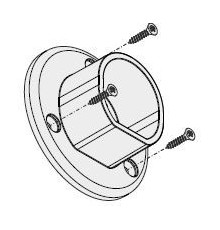 Extra End Holder (Pair) for Oval Wardrobe Clothes Hanging Rail