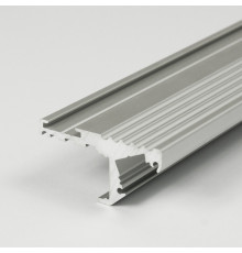 Aluminium LED profile S1 STEP, silver anodized, 1000mm/1m