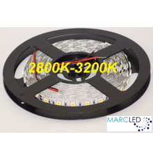 24VDC LED Flexible Strip warm white 3000K SMD5050, IP20, 5m  (72W, 300LEDs)