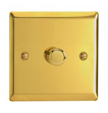 JVP401, Varilight, V-pro Trailing Edge and LED Dimmer Switch, polished brass, max load 400W