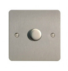 JFSP401, Varilight, V-pro Trailing Edge and LED Dimmer Switch, Ultraflat, Brushed Steel, max load 400W