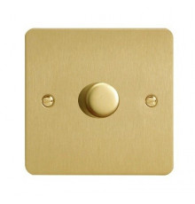 JFBP401, Varilight, V-pro Trailing Edge and LED Dimmer Switch, Ultraflat, Brushed Brass, max load 400W