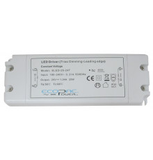 24Vdc 25W Triac dimmable (leading edge) LED driver, ELED-25-24T