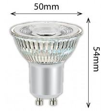 4.4w Spotlight GU10 2700K 345lm, NON-dimmable, body material - glass
