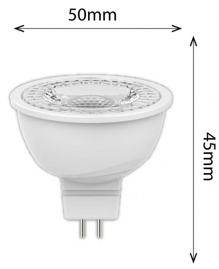 4.8w 12Vac/dc LED Spotlight GU5.3 MR16 2700K, 345lm, non-dimmable