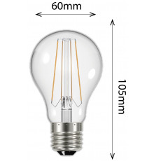 6.8w Filament GSL E27 806lm 2700K Clear LED Lamp, dimmable