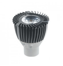 1W MR11 GU4 12V LED Spot Lamp, Black, Warm White, non-dimmable