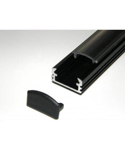 P2 anodized black LED aluminium profile / extrusion with diffuser
