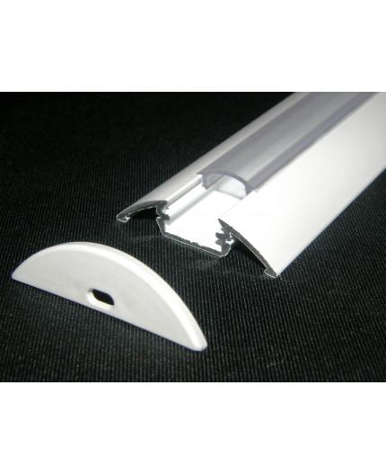 P4 painted white LED aluminium profile / extrusion with diffuser