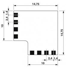 Phoenix Contact, PCB - PTF 0,3/ 4-FLEX-L-10 - 1848516. Corner Connector 10mm
