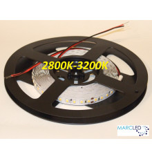24VDC LED Flexible Strip 2800K-3200K SMD2835, IP20, 5m a roll  (80W, 600LEDs)