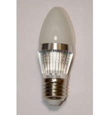 3W E27 LED Lamp, Frosted Candle Bulb, Warm White, Dimmable, 20W-25W Equivalent