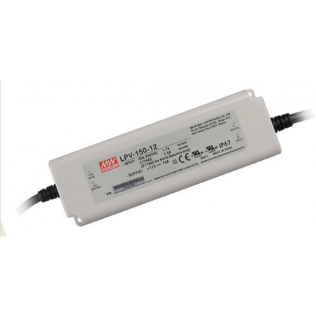 150W 12Vdc Single Output LED Driver, Mean Well, LPV-150-12