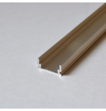 P5 Aluminium channel for LED tapes / strips, non-anodized (raw), length: 485mm