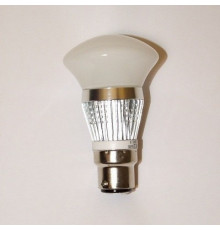 3W B22 LED Lamp, Milky Mushroom Bulb, Warm White, Dimmable, 20W-25W Equivalent