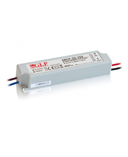 21W 700mA Single Output Switching LED Power Supply, GPCP-20-700, Built-in active PFC function, 5 years warranty