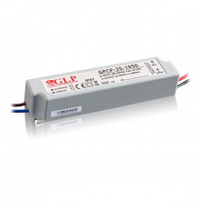 28W 350mA Single Output Switching LED Power Supply, GPCP-35-350, Built-in active PFC function, 5 years warranty