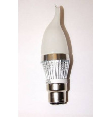 3W B22 LED Lamp, Milky Flame Bulb, Warm White, Dimmable, 20W-25W Equivalent