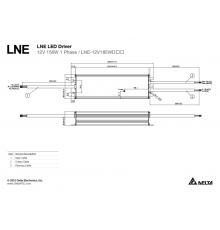 LNE-24V100WDCA Delta LED Driver 96W 24Vdc, Dimming (1~10VDC / PWM / Resistance), PFC, 7 years warranty