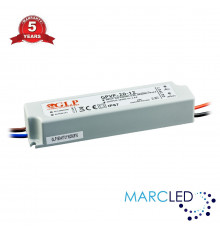 18W 12Vdc Single Output Switching LED Power Supply, GPVP-20-12, built-in active PFC function, 5 years warranty