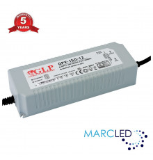 GPV-150-12, 120W 12Vdc Single Output Switching LED Power Supply, GL Power, 5 years warranty, TÜV certificate