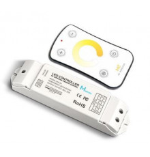Remote Control and CV Receiving controller for CCT changeable LED strip 2700K-6500K