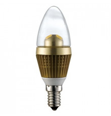 3W E14 LED Lamp, Clear Candle Bulb, Warm White, Dimmable, 20W-25W Equivalent