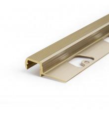 Aluminium LED profile S2 STEP, brass, 1100mm/1.1m