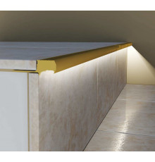 Aluminium LED profile S2 STEP, brass, 1100mm/1.1m