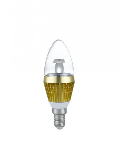 3w e14 led lamp  clear candle bulb  warm white  dimmable