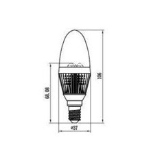 3W E14 LED Lamp, Milky Candle Bulb, Warm White, Dimmable, 20W-25W Equivalent