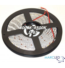 24VDC SMD5050 LED Flexible Strip 4000K-4500K, IP65 (silicon glue coated), 5m (72W, 300LEDs)