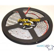 24VDC SMD5050 LED Flexible Strip 2500K-2800K, IP54 (silicon glue coated), 5m  (72W, 300LEDs)