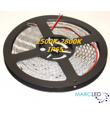 24VDC SMD5050 LED Flexible Strip 2500K-2800K, IP65 (silicon glue coated), 5m  (72W, 300LEDs)