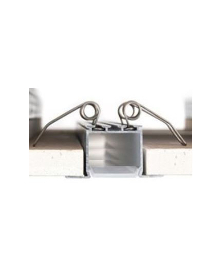 2.5m / 2500mm C2 ceiling LED aluminium extrusion (anodized / silver), set with diffuser