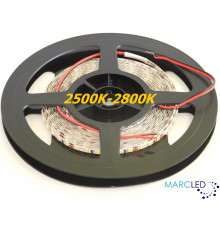 12VDC LED SMD2835 Flexible Strip 5mm, warm white 2500K-2800K, IP20, 5m a roll  (72W, 600LEDs)