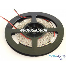 12VDC LED SMD2835 Flexible Strip 5mm, warm white 4000K-4500K, IP20, 5m a roll (72W, 600LEDs)