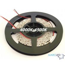 12VDC LED SMD2835 Flexible Strip 5mm, warm white 4000K-4500K, IP20, 5m a roll  (72W, 600LEDs)