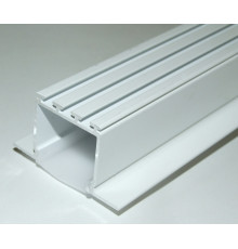 1m / 1000mm C2 ceiling LED aluminium extrusion (painted / white), set with diffuser