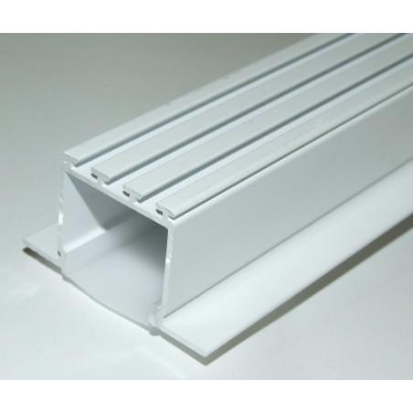 1m / 1000mm C2 ceiling LED aluminium extrusion (painted / white), set with diffuser