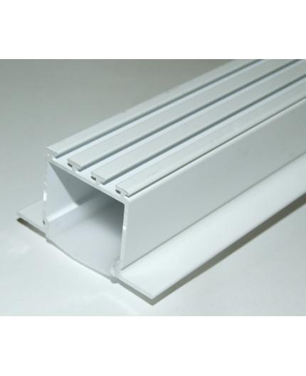 3m ceiling LED aluminium extrusion C2 painted / white, with diffuser