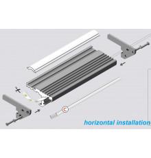 Aluminium LED profile S1 STEP, silver anodized, 1000mm/1m