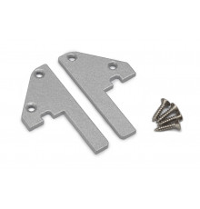 Aluminium LED profile S1 STEP edge, silver anodized, 1000mm / 1m