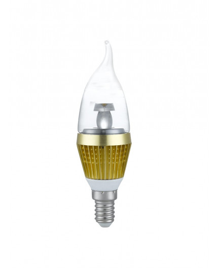 3w e14 led lamp clear flame bulb warm white dimmable 20w 25w equivalent marc led ltd. Black Bedroom Furniture Sets. Home Design Ideas