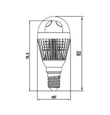 3W E14 LED Lamp, Milky Ball Bulb, Warm White, Dimmable, 20W-25W Equivalent