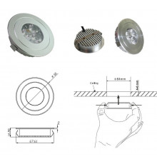 LED Under Cabinet Lights, CREE, 3W DC12V, Warm White, 202lm - iPuck(4)